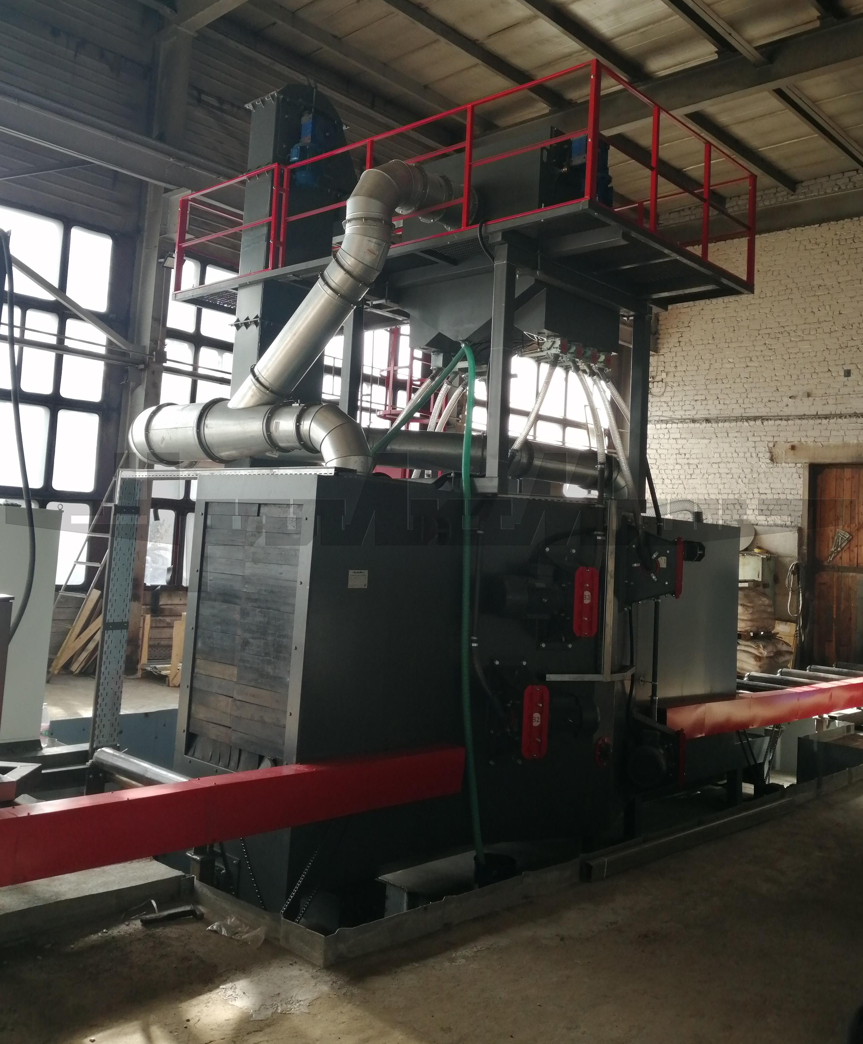 Смонтирована дробеметная установка ДУ.8015 в Нефтеюганске