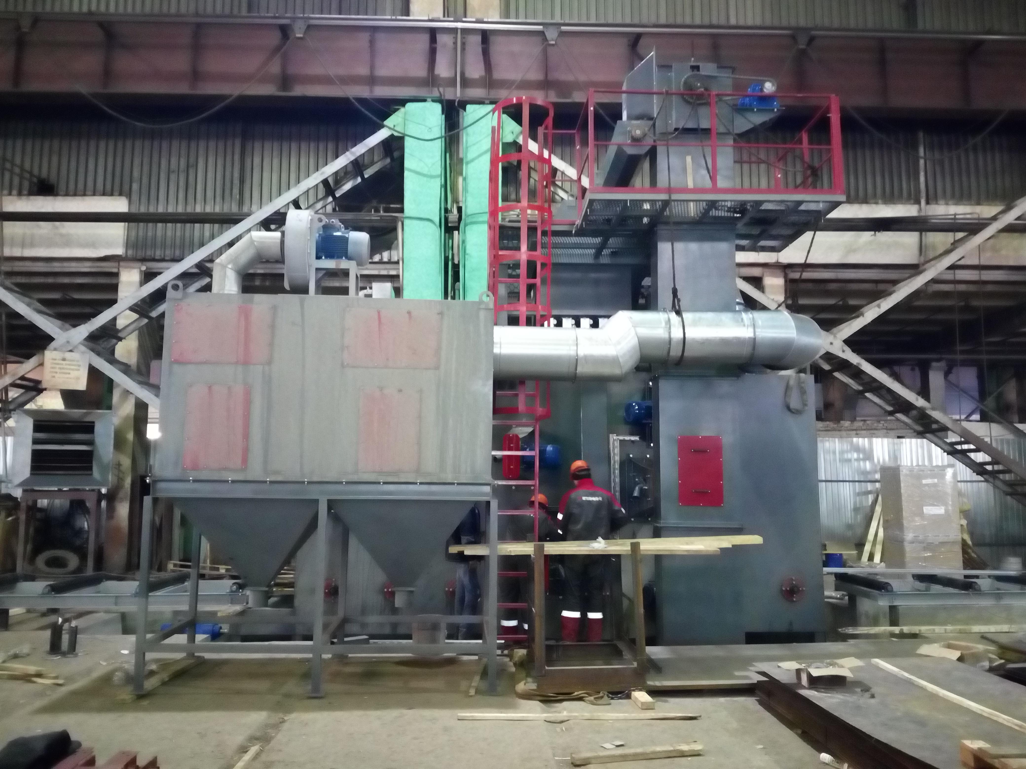 Монтаж дробеметной установки ДУ1020 на ПМК г. Новосибирск